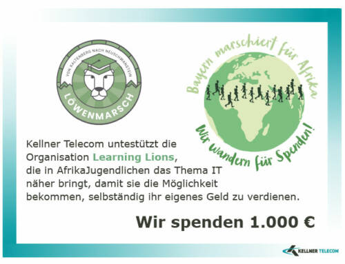 "Spende für ""Learning Lions"""